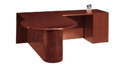 CHERRYMAN Furniture L-Shape Desk with P-shape table on front